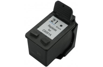 HP C9351 č.21 černá, kompatibilní inkoustová kazeta, 23ml  , C 9351, C9351
