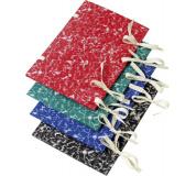 Spisové desky s tkanicí barevný mramor červená