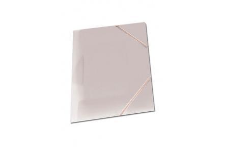 Mapa tříklopá OPALINE s gumou mléčná, desky na spisy s gumou