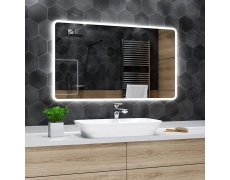 Koupelnové zrcadlo s LED podsvětlením 120x90 cm OSAKA