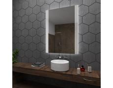 Koupelnové zrcadlo s LED podsvícením 60x80 cm ARICA