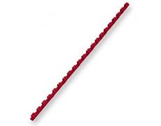 Hřebeny plastové vazací pr.6mm 100ks červená pro plastovou vazbu , kroužková vazba