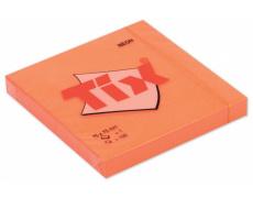 Samolepící bloček TIX neon 75x75mm 100 listů oranžový