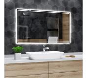 Koupelnové zrcadlo s LED podsvětlením 80x70cm WIEDEN