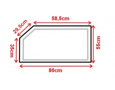 Koupelnové zrcadlo s LED osvětlením 80x55 cm ATLANTA ATYPICKÉ