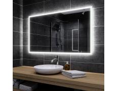 Koupelnové zrcadlo s LED podsvícením 120x95 cm BOSTON