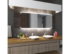 Koupelnové zrcadlo s LED podsvětlením 140x90 cm ASSEN