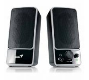 Genius SP-M200, 2.0, 6W, ovládání hlasitosti, černé, 3.5mm konektor