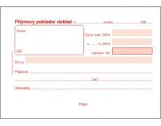Příjmový pokladní doklad samopropisovací PT020