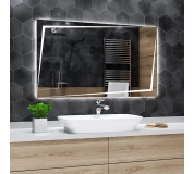 Koupelnové zrcadlo s LED podsvětlením 140x100 cm BERLIN