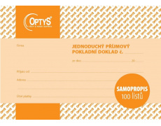 Jednoduchý příjmový pokladní doklad NCR OP302