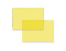 Přední stran pro kroužkové vazače A4 PVC fólie žlutá 200mic 100ks