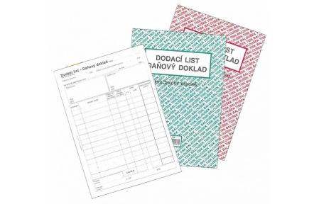 Dodací list daňový doklad A5 samopropisovací PT140