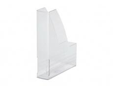 Pořadač na časopisy plastový bílý transparentní