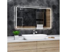 Koupelnové zrcadlo s LED podsvětlením 140x90 cm MADRID