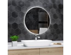 Koupelnové zrcadlo kulaté BALI s LED podsvícením Ø 50 cm podsvětlené