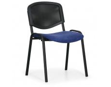 Konfereční židle čalouněná Viva Mesh modrá, černý kov, židle konferenční