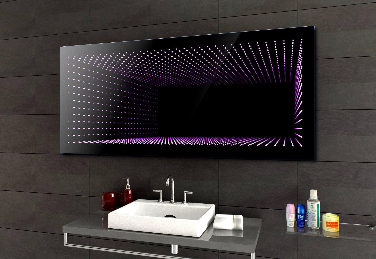 Koupelnové Zrcadlo S Led Osvětlením 120x60 Cm 3d Efekt Rgb