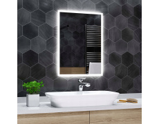 Koupelnové zrcadlo s LED podsvícením 51x93 cm BOSTON, hranaté