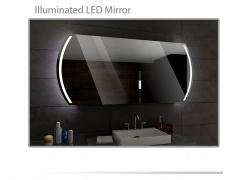 Koupelnové zrcadlo s LED podsvětlením 120x60 cm KAIR