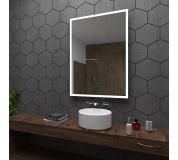 Koupelnové zrcadlo s LED podsvícením 50x89 cm BOSTON, hranaté