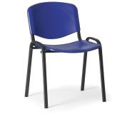 Konfereční židle plastová ISO modrá,černý kov, židle konferenční