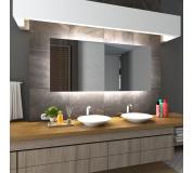 Koupelnové zrcadlo s LED podsvětlením 145x85 cm DUBAI