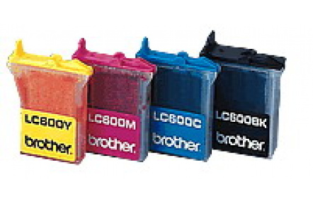 Brother LC 600 červená 12ml kompatibilní kazeta PrintRiteLC600