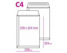 Obchodní taška C4 s krycí páskou 25ks