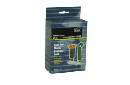 Plnící sada , refill kit černá 2x30ml,pro HP 51645 / C6615 , 6615