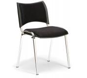 Konfereční židle čalouněná Smart černá, chromovaný kov, židle konferenční