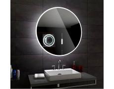 Koupelnové zrcadlo kulaté DELHI s LED podsvícením Ø 70 cm IP44, zrcátko osvětlené, NEUTRALNÍ