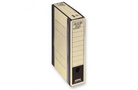 Archivační box  HIT Board natur A4 330x260x75mm černá , archivační krabice