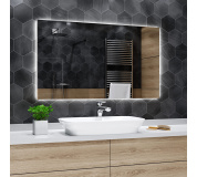 Koupelnové zrcadlo s LED podsvětlením 45x100 cm DUBAI