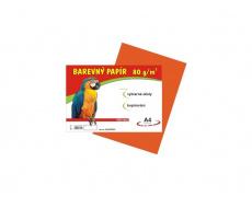 Barevné papíry A4 80g 100ls oranžové