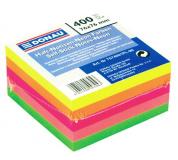 Samolepící bloček 76x76mm 76x76mm 400 listů neonové barvy