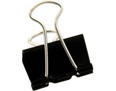 Klip binder 15mm černý 12ks