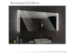 Koupelnové zrcadlo s LED podsvětlením 130x80 cm ARICA