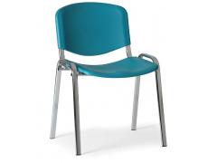 Konfereční židle plastová ISO zelená, chromovaný kov židle konferenční