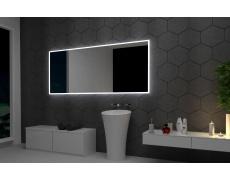 Koupelnové zrcadlo s LED podsvícením 83x70cm BOSTON