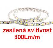 Zesílené osvětlení 800Lm/m LED pásek