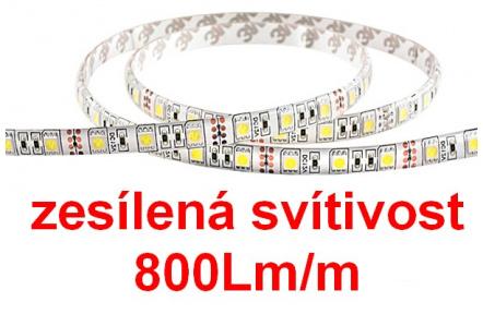 Zesílené osvětlení 800Lm/m LED pásek ALA