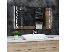 Koupelnové zrcadlo s LED podsvícením 120x60 cm TORONTO