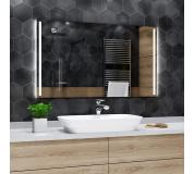 Koupelnové zrcadlo s LED podsvícením 131x92cm PARIS
