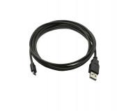 Kabel MICRO USB 0,5m černý