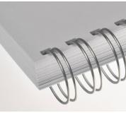 Kovový hřbet stříbrný 11,1 mm, 100ks