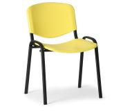 Konfereční židle plastová ISO žlutá, černý kov, židle konferenční