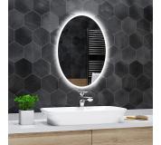 Koupelnové zrcadlo elipsovité s LED podsvětlením 50x80cm HAVANA