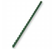 Hřebeny plastové vazací pr.6mm 100ks zelená pro plastovou vazbu , kroužková vazba