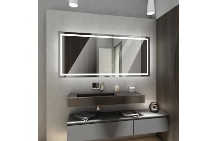 Koupelnové zrcadlo s LED osvětlením 80x60 cm ATLANTA studená